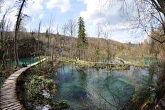 Parque nacional de los lagos Plitvice en Croatia Fotografía de archivo
