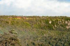 Parque nacional de los volcanes de Hawaii en la isla grande Imágenes de archivo libres de regalías