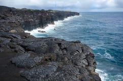 Parque nacional de los volcanes de la isla grande, Hawaii Foto de archivo