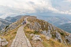 Parque nacional de Lovcen del punto de vista Imagen de archivo