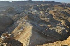 Parque nacional de Masada Fotos de Stock Royalty Free