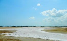 Parque nacional de Medanos de Coro del lago salt Foto de archivo libre de regalías