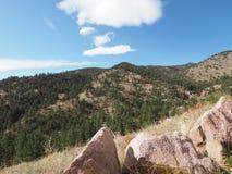 Parque nacional de montanha rochosa fotografia de stock