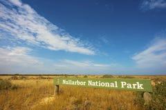 Parque nacional de Nullarbor Fotos de archivo libres de regalías