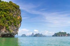 Parque nacional de Phang Nga em Tailândia Fotografia de Stock