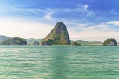 Parque nacional de Phang Nga en Tailandia Fotografía de archivo