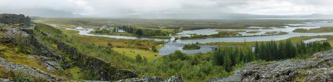 Parque nacional de Pingvellir en Islandia Foto de archivo