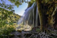 Parque nacional de Plitvice de la cascada Fotografía de archivo