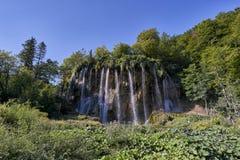 Parque nacional de Plitvice de las cascadas Fotografía de archivo libre de regalías