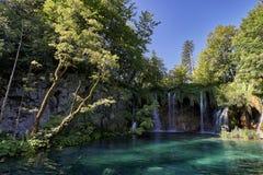 Parque nacional de Plitvice de las cascadas Imagenes de archivo
