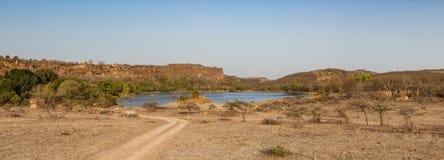 Parque nacional de Ranthambhore no estado indiano de rajasthan fotografia de stock