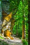 Parque nacional de Ritchie Ledges - del valle de Cuyahoga - Ohio Imágenes de archivo libres de regalías