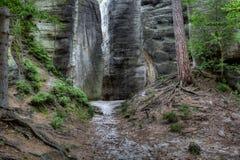 Parque nacional de rocas de Adrspach-Teplice Ciudad de la roca Fotos de archivo libres de regalías