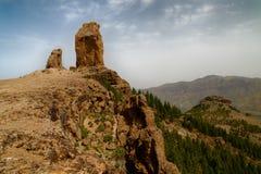 Parque nacional de Roque Nublo en la isla de Gran Canaria foto de archivo