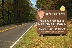 Parque nacional de Shenandoah imagenes de archivo