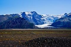 Parque nacional de Skaftafell, geleira Foto de Stock Royalty Free