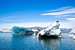 Parque nacional de Skaftafell, lagoa do ³ n do rlà do ¡ de JökulsÃ. Foto de Stock