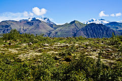 Parque nacional de Skaftafell, montanhas Imagem de Stock Royalty Free