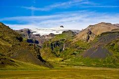 Parque nacional de Skaftafell, montanhas Imagem de Stock