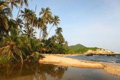 Parque nacional de Tayrona de la playa de Cabo San Juan, Colombia Imágenes de archivo libres de regalías