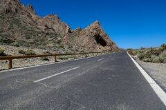 Parque nacional de Teide em Tenerife, Spain Foto de Stock