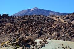 Parque nacional de Teide Tenerife, Ilhas Canárias, Spain Fotografia de Stock