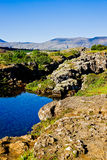 Parque nacional de Thingvellir em Islândia Fotos de Stock Royalty Free