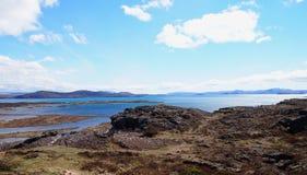 Parque nacional de Thingvellir, Islândia fotografia de stock