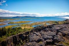 Parque nacional de Thingvellir, Islandia Foto de archivo libre de regalías