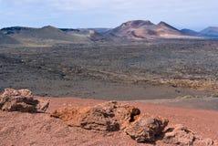 Parque nacional de Timanfaya Fotografía de archivo