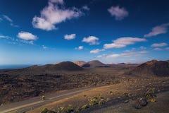 Parque nacional de Timanfaya imagen de archivo