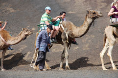 Parque nacional de Timanfaya Fotos de Stock Royalty Free