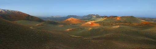 Parque nacional de Timanfaya imagen de archivo libre de regalías
