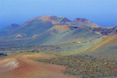 Parque nacional de Timanfaya em Lanzarote, Ilhas Canárias imagem de stock royalty free