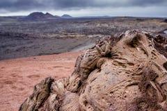 Parque nacional de Timanfaya - Lanzarote foto de archivo libre de regalías
