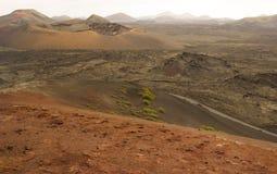 Parque Nacional De Timanfaya, Lanzarote, wyspy kanaryjska, Hiszpania Obraz Stock