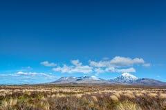 Parque nacional de Tongariro da paisagem de Ruapehu da montagem, Nova Zelândia Foto de Stock