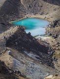 Parque nacional de Tongariro de los lagos esmeralda, Nueva Zelandia Imagen de archivo