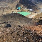 Parque nacional de Tongariro de los lagos esmeralda, Nueva Zelandia Imágenes de archivo libres de regalías