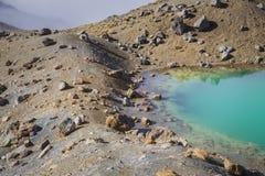 Parque nacional de Tongariro de los lagos esmeralda, Nueva Zelandia Foto de archivo