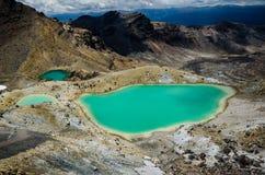Parque nacional de Tongariro dos lagos emerald, Nova Zelândia Foto de Stock