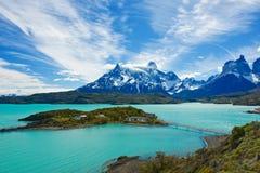 Parque nacional de Torres del Paine Fotos de archivo libres de regalías