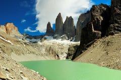 Parque nacional de Torres del Paine, Chile Fotos de archivo libres de regalías