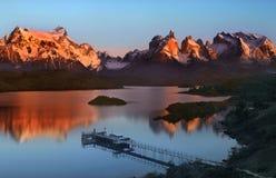 Parque nacional de Torres del Paine en Patagonia en Chile meridional Imágenes de archivo libres de regalías