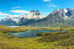 Parque nacional de Torres del Paine, o Chile Imagem de Stock