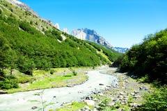 Parque nacional de Torres del Paine, o Chile Fotos de Stock