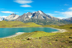 Parque nacional de Torres del Paine, o Chile Imagens de Stock