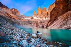 Parque nacional de Torres del Paine, Patagonia, Chile fotografía de archivo libre de regalías