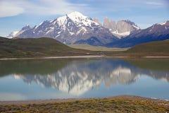 Parque nacional de Torres del Paine, Patagonia chileno, o Chile Fotos de Stock Royalty Free