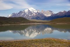 Parque nacional de Torres del Paine, Patagonia chileno, o Chile Imagens de Stock
